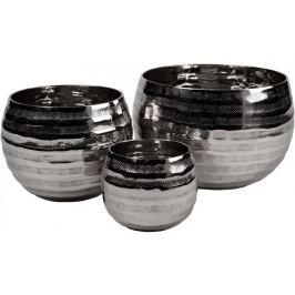 Wittkemper Set svícnů NY z hliníku stříbrné, 3 ks
