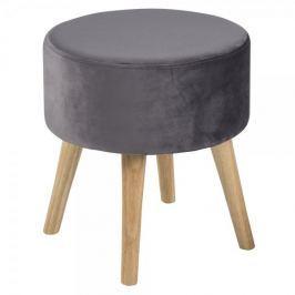 Design Scandinavia Taburetka s dřevěnými nohami Sherry, šedá
