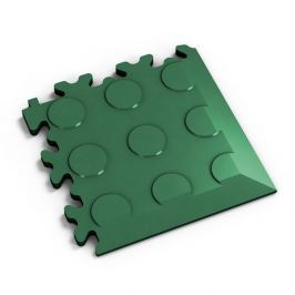 Fortelock Zelený plastový vinylový rohový nájezd 2046 (penízky) - 14 x 14 x 0,7 cm
