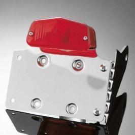 Highway-Hawk koncové světlo na motorku s držákem SPZ  LUCAS s boční montáží, chrom (1ks)