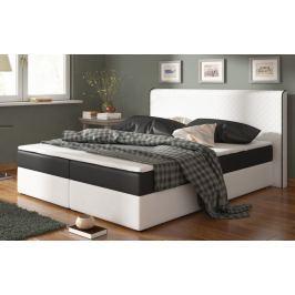 Postel s matrací BERGAMO 180x200cm ( PUR - bílá/černá )