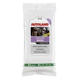 AUTOLAND Čistící vlhčené ubrousky XL na kožené povrchy, s UV filtrem a včelím voskem, 25 ks