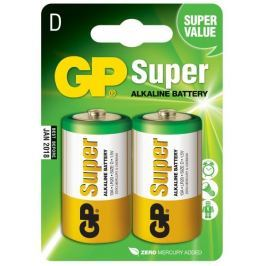 GP Alkalické baterie GP Super (D), 2 ks