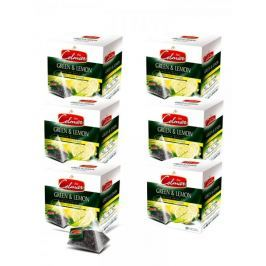 Celmar Green&Lemon čaj, 20 pyramidových sáčků. 6 balení