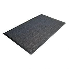 Šedá textilní čistící vnitřní vstupní rohož - 90 x 60 cm