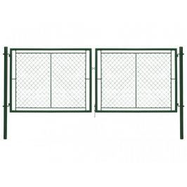 Dvoukřídlá brána poplastovaná Zn+PVC 3605×1750 mm