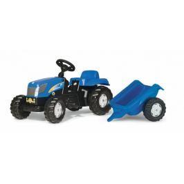 Rolly Toys Šlapací traktor New Holland TVT190 s vlečkou