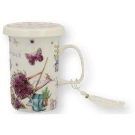 Marex Trade Hrnek na čaj s víčkem a čajítkem PROWANS 320ml v dárkovém balení
