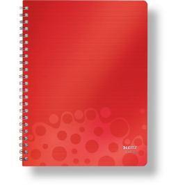 Blok BEBOP A4 80 listů čtvereček červený