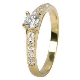 Brilio Dámský prsten s krystaly 229 001 00668 - 1,85 g (Obvod 54 mm) zlato žluté 585/1000