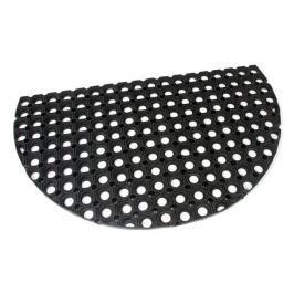 FLOMAT Gumová vstupní čistící půlkruhová rohož Honeycomb - 75 x 45 x 2,2 cm