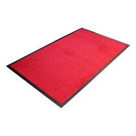 Červená textilní čistící vnitřní vstupní rohož - 90 x 60 x 0,7 cm