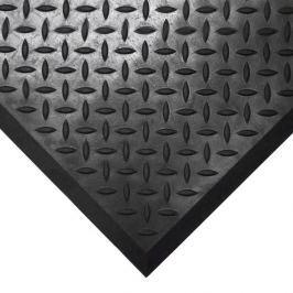 Černá gumová protiskluzová průmyslová modulární rohož Comfort-Lok - 80 x 70 x 1,25 cm