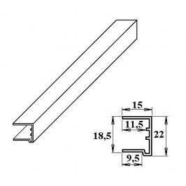 LanitPlast PVC ukončovací U-profil 16 mm bílý 2.10 m
