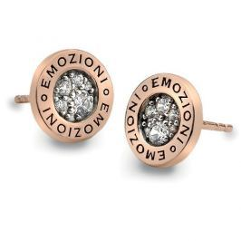 Hot Diamonds Stříbrné náušnice Hot Diamonds Emozioni Pianeta Rose Gold DE403 stříbro 925/1000