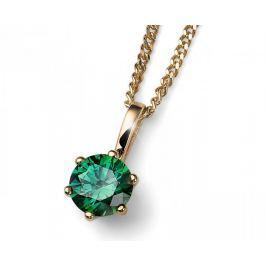 Oliver Weber Pozlacený stříbrný náhrdelník s krystalem Brilliance 61125G GRE stříbro 925/1000