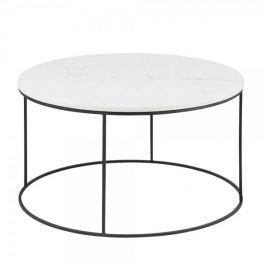 Design Scandinavia Konferenční stolek Boston, 80 cm, mramor