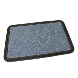 FLOMAT Modrá textilní vstupní rohož Chaos - 60 x 40 x 0,8 cm
