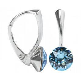 Troli Stříbrné náušnice Xirius Aquamarine stříbro 925/1000