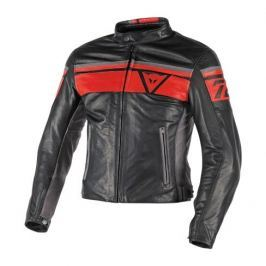 Dainese bunda BLACKJACK vel.54 černá/červená, kůže