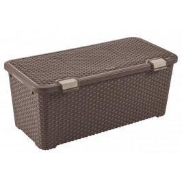 Curver Úložný Rattan Style box 72 L tm. hnědý