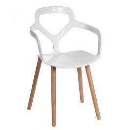 Mørtens Furniture Jídelní židle Noir, bílá