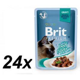 Brit Premium Cat Delicate Fillets in Gravy with Beef 24 X 85 g
