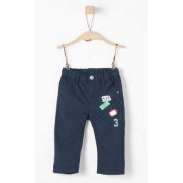 s.Oliver chlapecké kalhoty s nášivkami 68 modrá