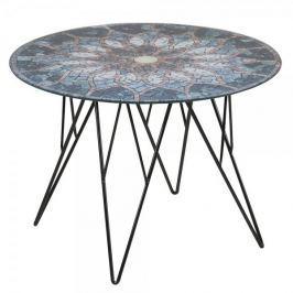 Design Scandinavia Konferenční stolek Stark, 55 cm, sklo s potiskem