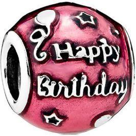 Pandora Korálek Happy Birthday 791983EN117 stříbro 925/1000