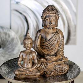 Papillon Soška Meditující Buddha, 28 cm, antik hnědá