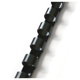 Hřbet pro kroužkovou vazbu 12,5 mm černý / 100 ks