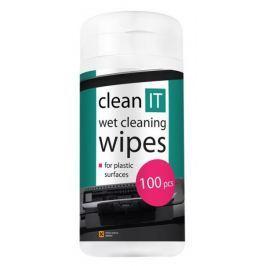Clean IT čistící ubrousky mokré na plasty, 100ks