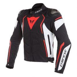 Dainese bunda DYNO TEX vel.48 černá/bílá/fluo-červená, textilní