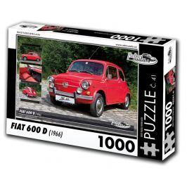 RETRO-AUTA© Puzzle č. 41 - FIAT 600 D (1966) 1000 dílků