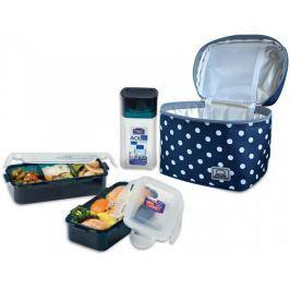 Lock&Lock Taška tečkovaná Lunch Boxes, modrá