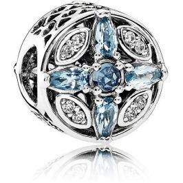 Pandora Třpytivý stříbrný korálek s modrými krystaly 791995NMBMX stříbro 925/1000