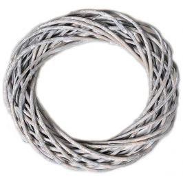 EverGreen Věnec proutěný 30 cm, šedá