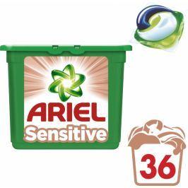 Ariel Sensitive 3v1 gelové kapsle na praní 36 ks