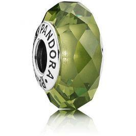 Pandora Skleněný zelený korálek 791729NLG stříbro 925/1000