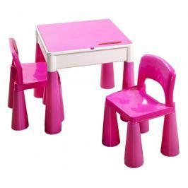 COSING Dětská sada Tega Mamut stoleček a 2x židlička - Růžová
