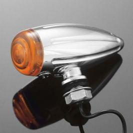 Highway-Hawk světlo na motorku BULLET Tech Glide, chrom (1ks)