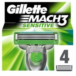 Gillette Mach3 Sensitive Náhradní hlavice k pánskému holicímu strojku 4 ks