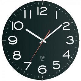 TFA Analogové nástěnné DCF hodiny 30 cm, černé - II. jakost