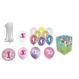 Helium sada 1.NAROZENINY VELKÁ OSLAVA HOLKY + 20 latexových a fóliových balónků