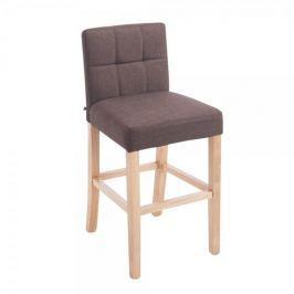 BHM Germany Barová židle Emanuel textil, hnědá