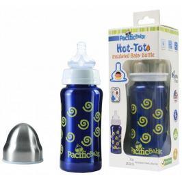 Pacific Baby Hot-Tot termoska 200 ml, Modrá - spirálky