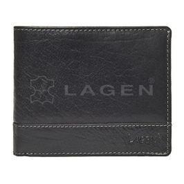Lagen Pánská černá kožená peněženka Black V-76/T
