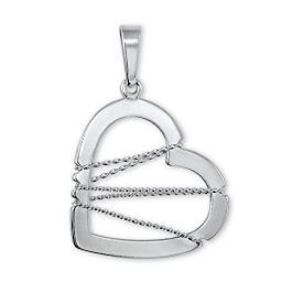 Brilio Silver Stříbrný přívěsek Srdce s drátkem 441 001 02063 04 - 1,22 g stříbro 925/1000