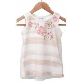 Primigi dívčí tričko 104 smetanová